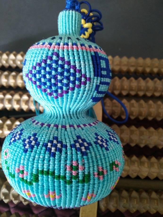 中国结论坛 原创编织葫芦~繁花点点 葫芦的编织教程图解,手工编织葫芦,手工编织葫芦挂件教程,葫芦的钩织教程 作品展示 162755a0z2ew4ug3b14fwz