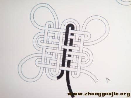 中国结论坛 盘长结(徒手)  基本结-新手入门必看 0905201346169fc5fdc1a3f522