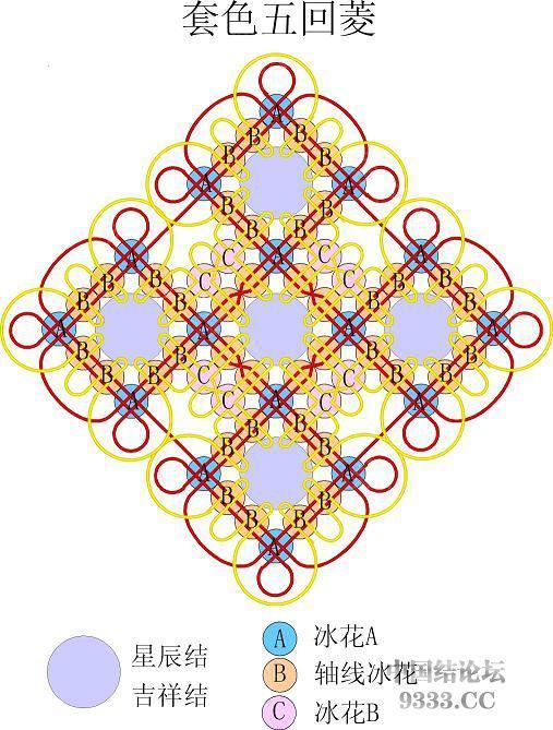 中国结论坛 我画的冰花走线简图 (陆续添加)  冰花结(华瑶结)的教程与讨论区 10011200464f04164d0d8efca0