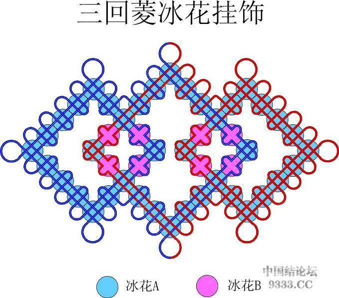 中国结论坛 我画的冰花走线简图 (陆续添加)  冰花结(华瑶结)的教程与讨论区 1001120046d5d08a76249f295f