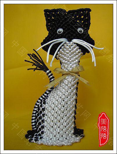 中国结论坛 小猫编制过程图  立体绳结教程与交流区 100112235060e6011b3b55e38c