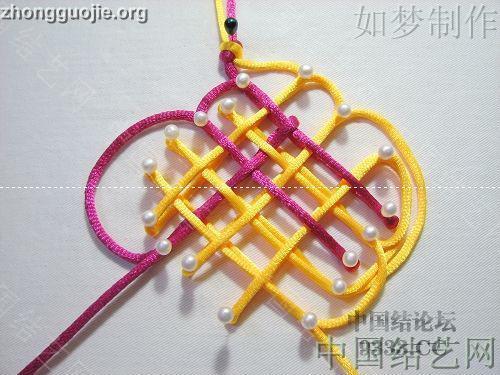 中国结论坛 三回复翼盘长编法教程  基本结-新手入门必看 10011623306ce4883d0a6f4ed5