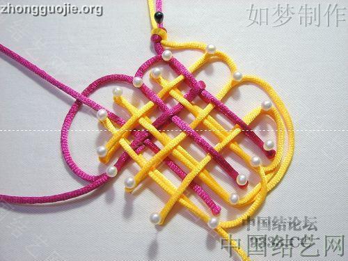 中国结论坛 三回复翼盘长编法教程  基本结-新手入门必看 1001162330cec6c3d8441de7f1