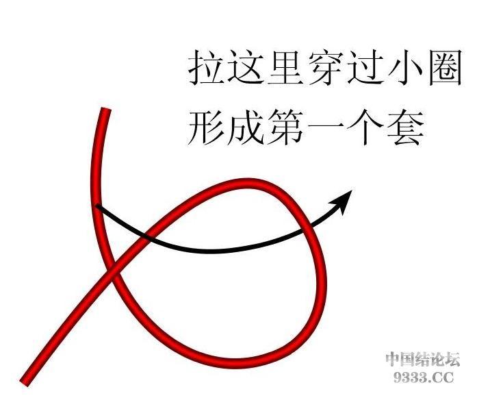中国结论坛 原创新结---花边结教程(第三页有花边团锦徒手教程)  基本结-新手入门必看 10031810450a9df788f294625e