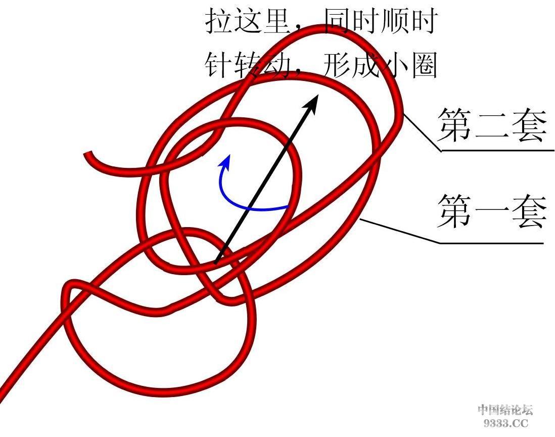 中国结论坛 原创新结---花边结教程(第三页有花边团锦徒手教程)  基本结-新手入门必看 10031810454b671404ba95b7ee