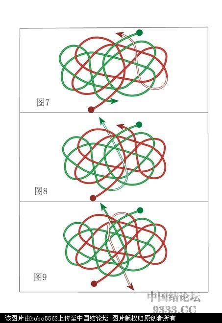 中国结论坛 原创新结---大元宝结走线图  基本结-新手入门必看 1005152103f347195555997f5d
