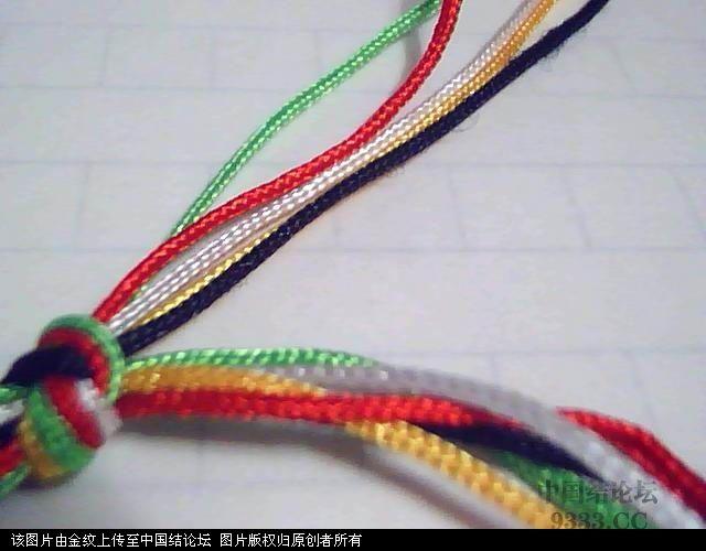 中国结论坛 五彩手链-幸运绳手链的编法图解 手链,转运珠手绳有几种编法,幸运绳,编绳手链视频,最简单的幸运绳怎么编 图文教程区 100527225271f96b8b73a9ba90