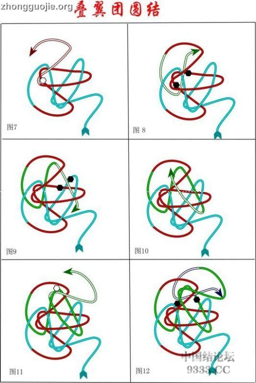 中国结论坛 原创新结---叠翼团圆结走线图  基本结-新手入门必看 1005280901a828d074481ed227