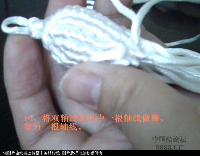 中国结论坛 5#线斜卷结白菜过程图  立体绳结教程与交流区 10060116594754c48cd62dd708