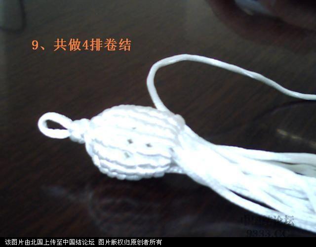 中国结论坛 5#线斜卷结白菜过程图  立体绳结教程与交流区 1006011659e39bbcefa406d447