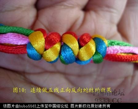 中国结论坛 原创新结---五线蛇结徒手教程  基本结-新手入门必看 1006022056e8601f3a9f4fa217
