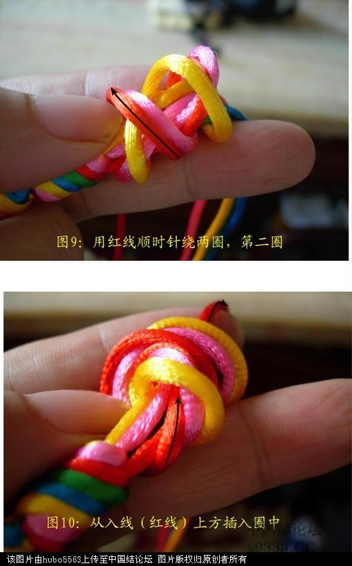 中国结论坛 原创新结---五线长双联结徒手教程  基本结-新手入门必看 10060512292c6cd394a56ba7ed
