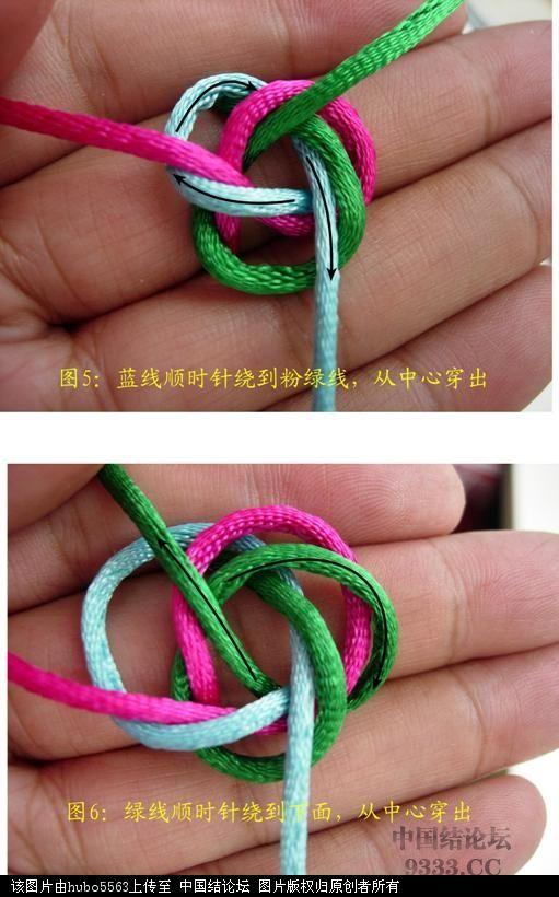 中国结论坛 原创新结---三线六瓣双联结徒手教程  基本结-新手入门必看 10062819494866c30b993387e9