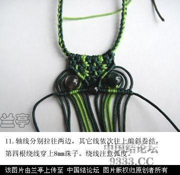 中国结论坛 简易猫头鹰,斜卷结,初级  兰亭结艺 10070110319a71a05c58b244cc
