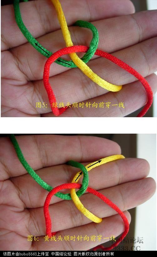 中国结论坛 原创新结---三线六瓣尖纽扣结徒手教程  图文教程区 10070917034067f9361ab3c951