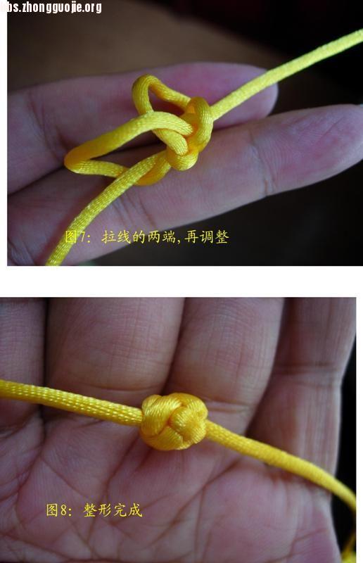 中国结论坛 原创新结---单线三瓣大纽扣结徒手教程  图文教程区 10072021510a7a3f494c770992