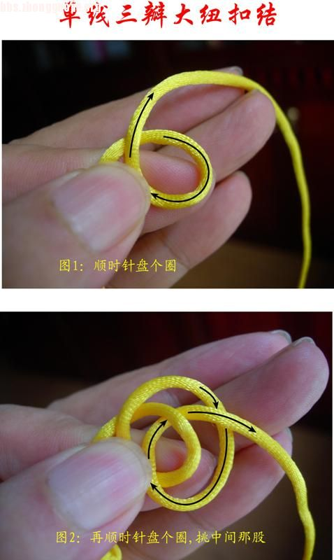 中国结论坛 原创新结---单线三瓣大纽扣结徒手教程  图文教程区 10072021515c1f14a6e0647f08
