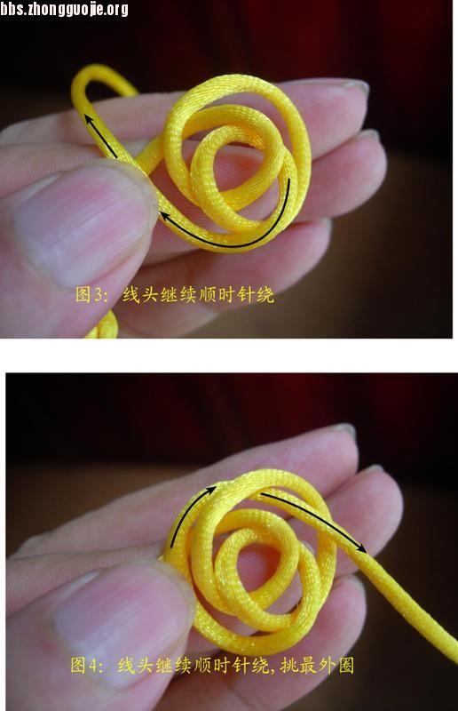 中国结论坛 原创新结---单线三瓣大纽扣结徒手教程  图文教程区 1007202151abecd2742f6015ac