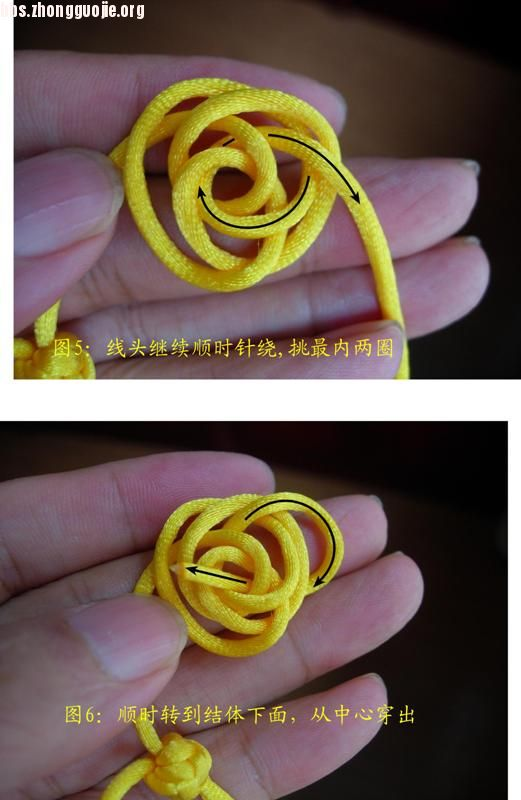 中国结论坛 原创新结---单线三瓣大纽扣结徒手教程  图文教程区 1007202151c6f52c24e7433982