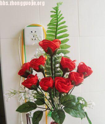 中国结论坛 七夕自制永不凋谢的玫瑰-永不褪变的爱  立体绳结教程与交流区 1007271012a77e4c2035bcc682