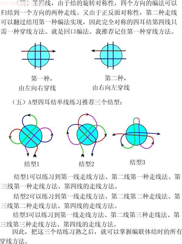 中国结论坛 四耳冰花结徒手编结指导  冰花结(华瑶结)的教程与讨论区 1007291521d1ec9372e397fbfa