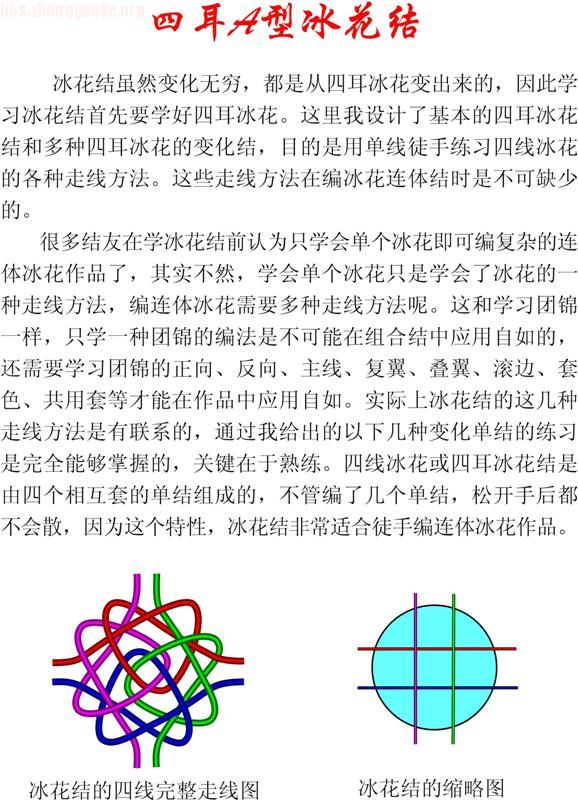 中国结论坛 四耳冰花结徒手编结指导  冰花结(华瑶结)的教程与讨论区 1007291521d7e11f48861df78b