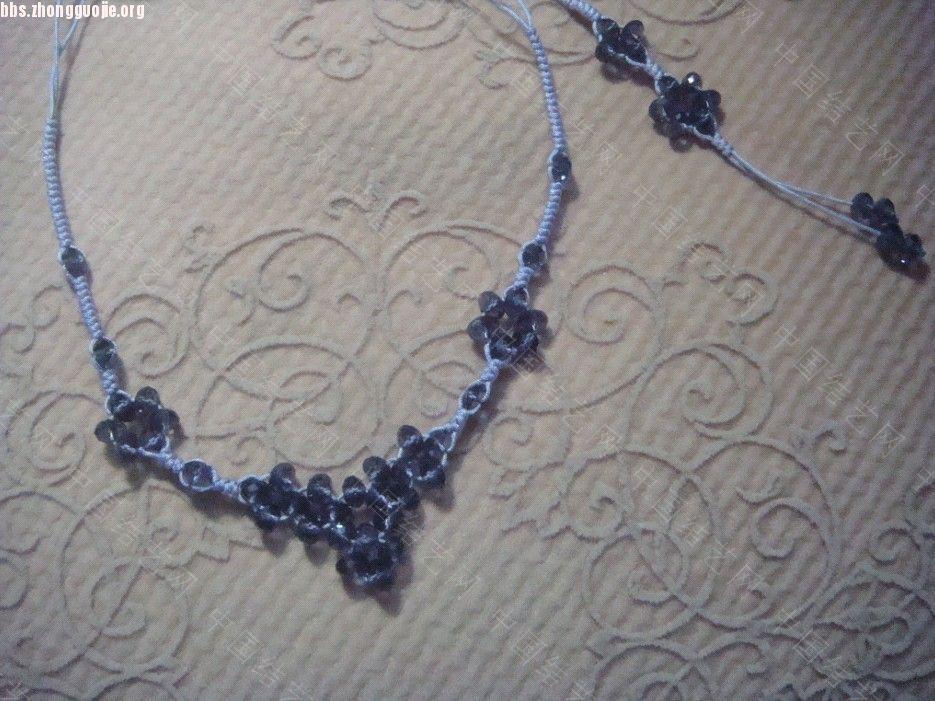中国结论坛 浅紫色串珠蛇结的项链和手机链  作品展示 10103120067d298cebb97c6755