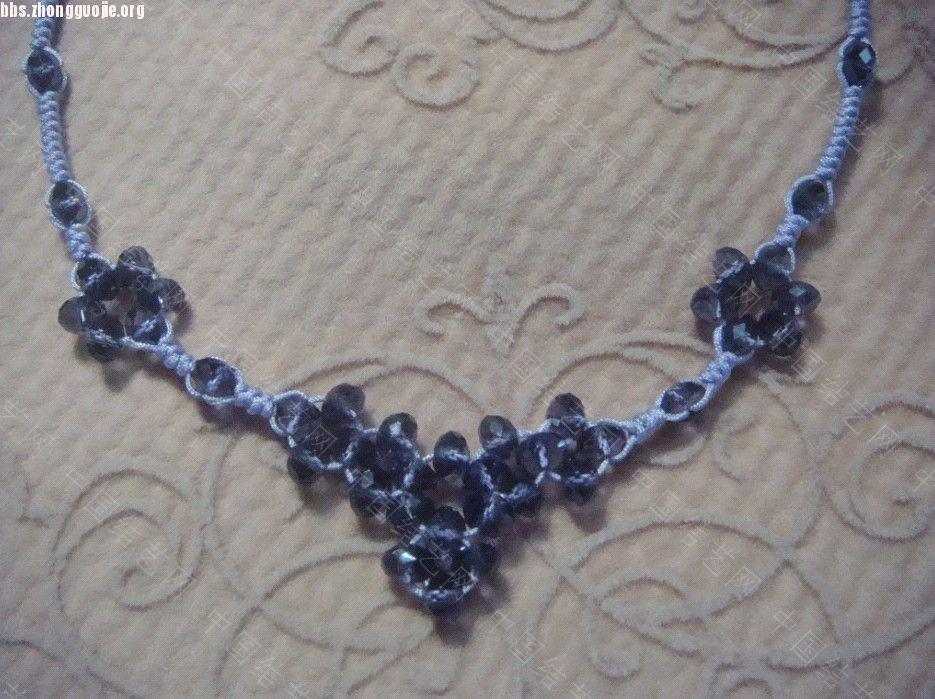 中国结论坛 浅紫色串珠蛇结的项链和手机链  作品展示 1010312006904e2cfb40549429