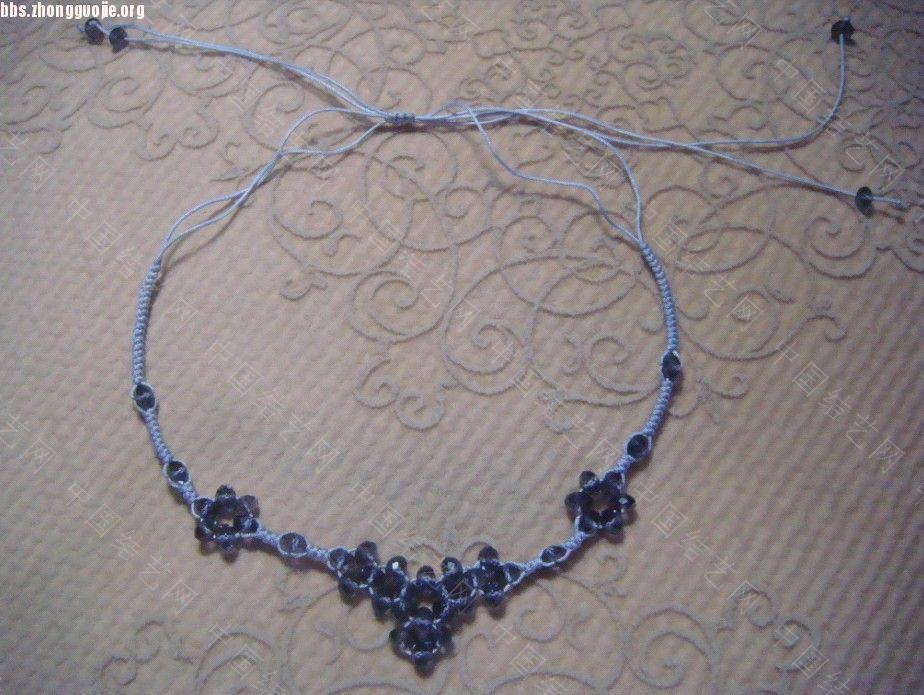 中国结论坛 浅紫色串珠蛇结的项链和手机链  作品展示 1010312006b463e0ac8062f4a6