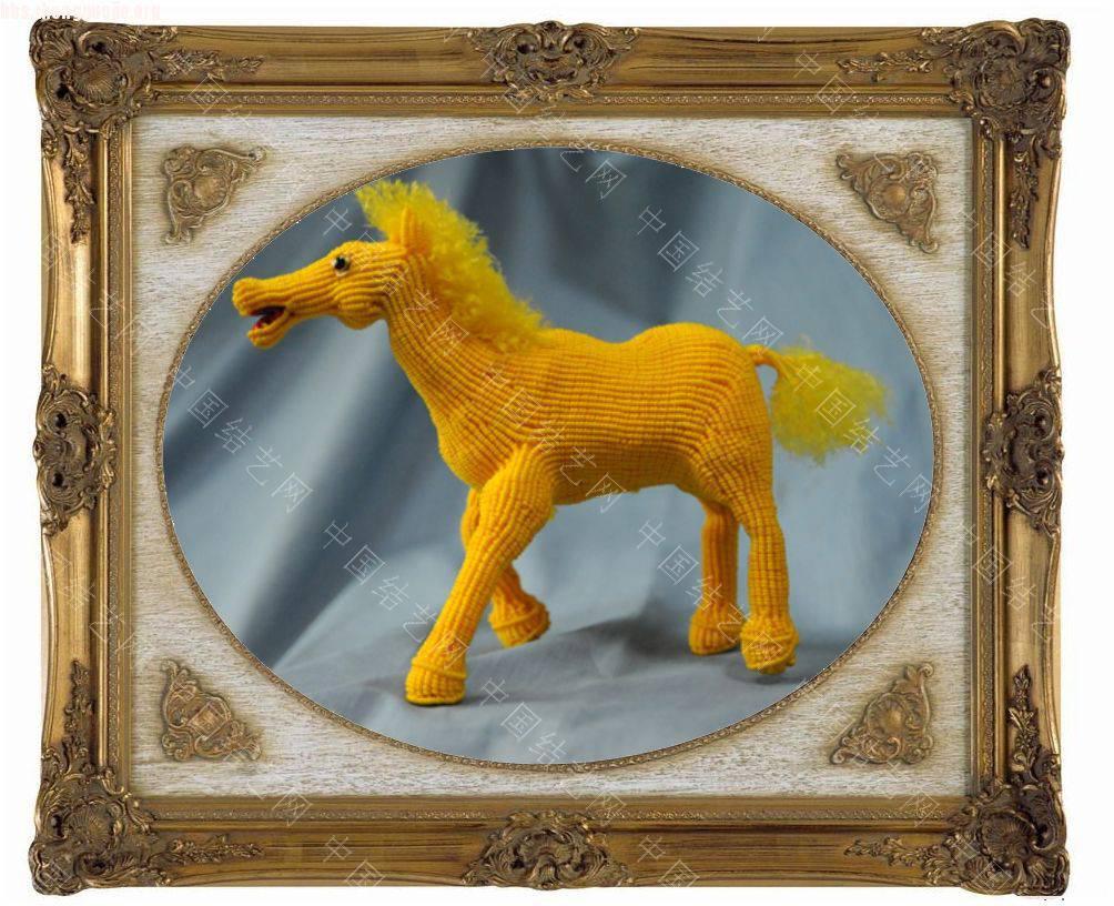中国结论坛 我曾在网上看见黑龙江的结友编的八匹马,我非常喜欢,我试着编了一匹  立体绳结教程与交流区 10120321126533f8ae3665af3b