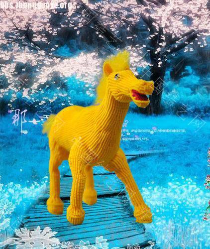 中国结论坛 我曾在网上看见黑龙江的结友编的八匹马,我非常喜欢,我试着编了一匹  立体绳结教程与交流区 1012032112663f3df980ad6919
