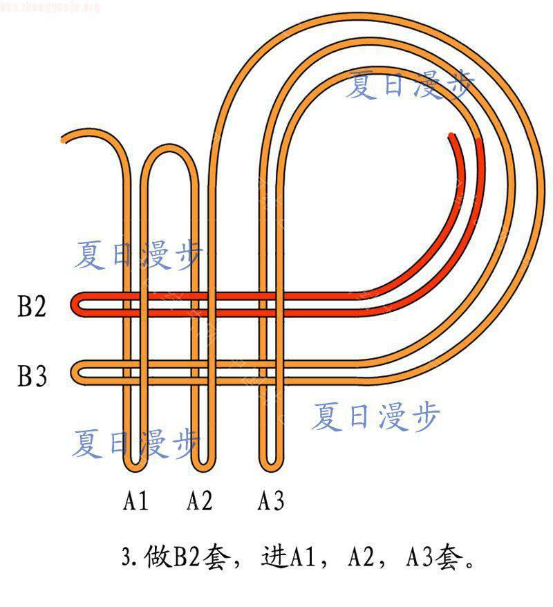 中国结论坛 四回复翼盘长结  基本结-新手入门必看 1012151253b3423077955ff5ca