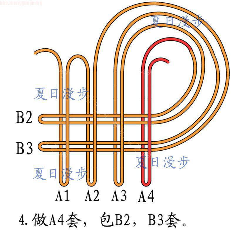 中国结论坛 四回复翼盘长结  基本结-新手入门必看 1012151254946449e051a04aec