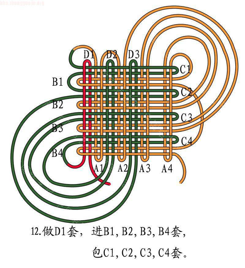中国结论坛 四回复翼盘长结  基本结-新手入门必看 10121512561c62414ca227f5db
