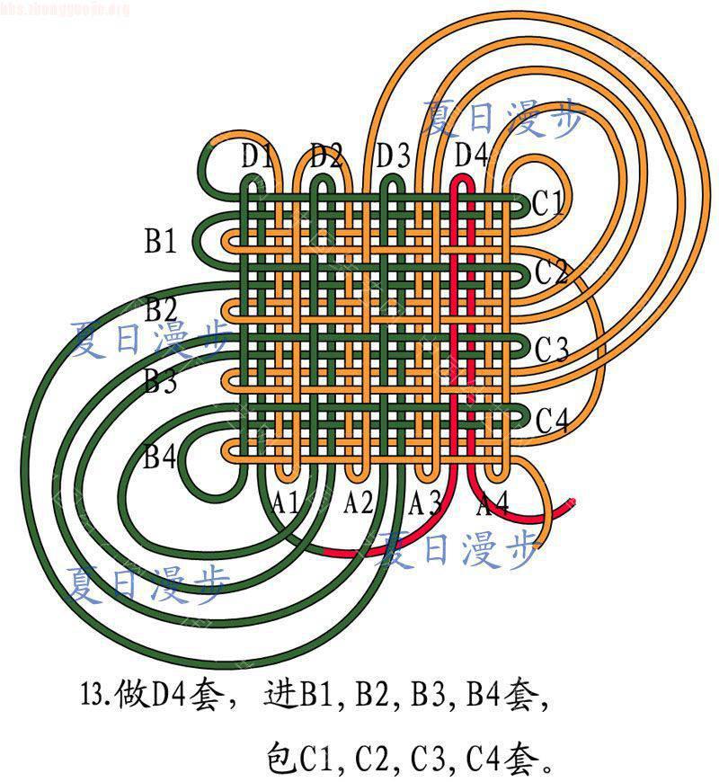 中国结论坛 四回复翼盘长结  基本结-新手入门必看 10121512569c64ce67b4b01b2e