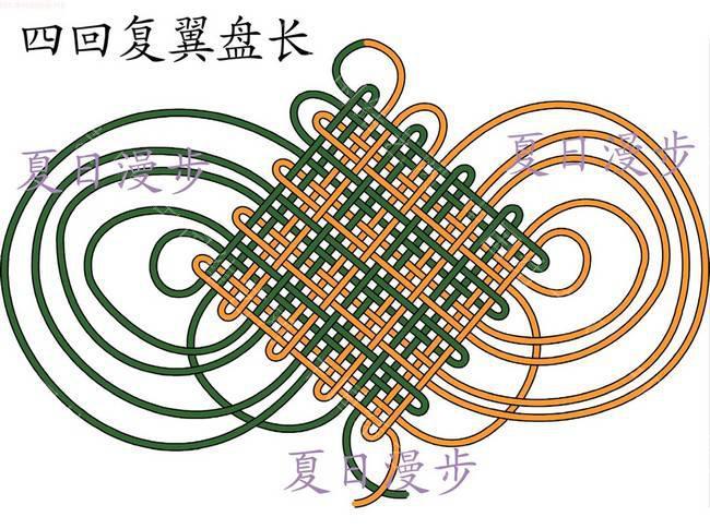 中国结论坛 四回复翼盘长结  基本结-新手入门必看 10121513065ab60fe0496c408c