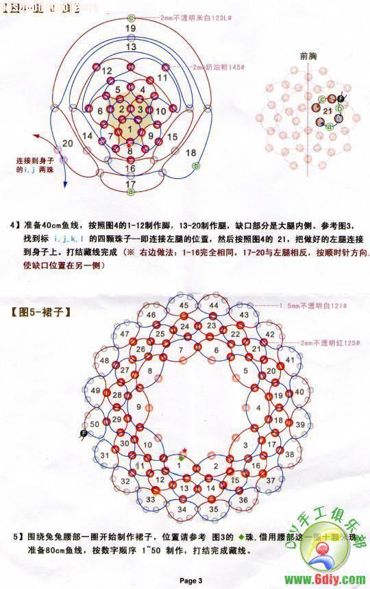 中国结论坛 过年了,再发一个红帽子红裙子的兔  串珠其他手工资料分享 101219105731d78d4a85cdbb22