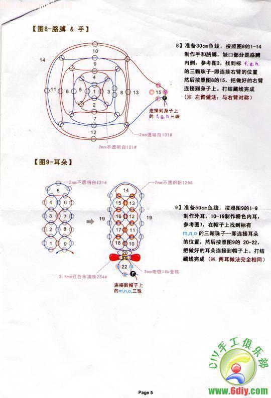 中国结论坛 过年了,再发一个红帽子红裙子的兔  串珠其他手工资料分享 1012191058a91ead9c5b8dabf5