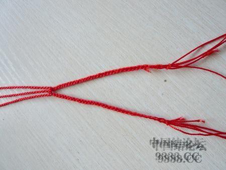 中国结论坛 三生绳三层红绳手链的编法(多图) 手链,一根红绳怎么编手链,各种寓意好的绳结手链,二根绳子各种编法图解 图文教程区 46ef80cfaadd3d1565a3b6021e2bdcc220