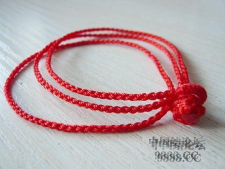 中国结论坛 三生绳三层红绳手链的编法(多图) 手链,一根红绳怎么编手链,各种寓意好的绳结手链,二根绳子各种编法图解 图文教程区 46ef80cfaadd3d1565a3b6021e2bdcc223