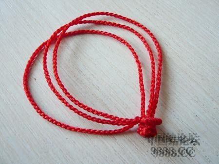 中国结论坛 三生绳三层红绳手链的编法(多图) 手链,一根红绳怎么编手链,各种寓意好的绳结手链,二根绳子各种编法图解 图文教程区 46ef80cfaadd3d1565a3b6021e2bdcc224