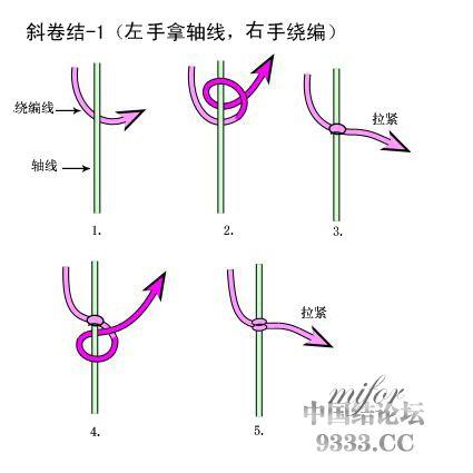 中国结论坛 斜卷结的编法图解(附视频教程) 初级达标 基本结-新手入门必看 e8c5762984ce391475688fdbb02fe3fc4