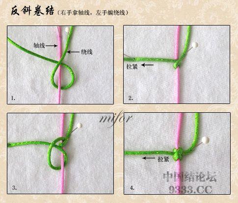中国结论坛 斜卷结的编法图解(附视频教程) 初级达标 基本结-新手入门必看 e8c5762984ce391475688fdbb02fe3fc7