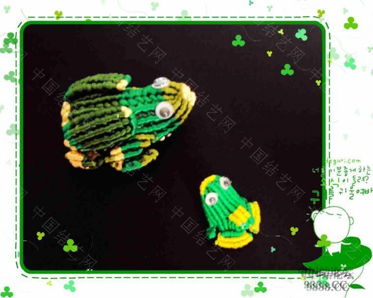 中国结论坛 青蛙妈妈和小青蛙 青蛙,妈妈,和小青,小青蛙 立体绳结教程与交流区 2a25ee53cd974a66cfd26877f1b0b94b0