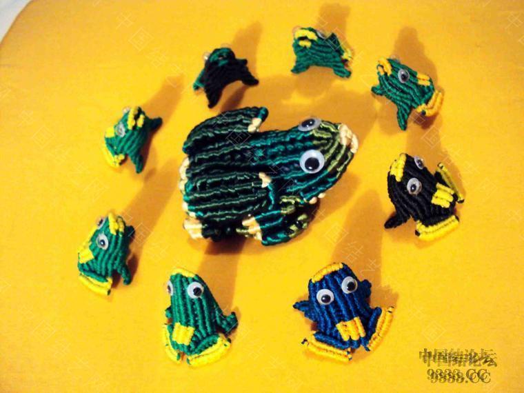 中国结论坛 青蛙妈妈和小青蛙 青蛙,妈妈,和小青,小青蛙 立体绳结教程与交流区 2a25ee53cd974a66cfd26877f1b0b94b1