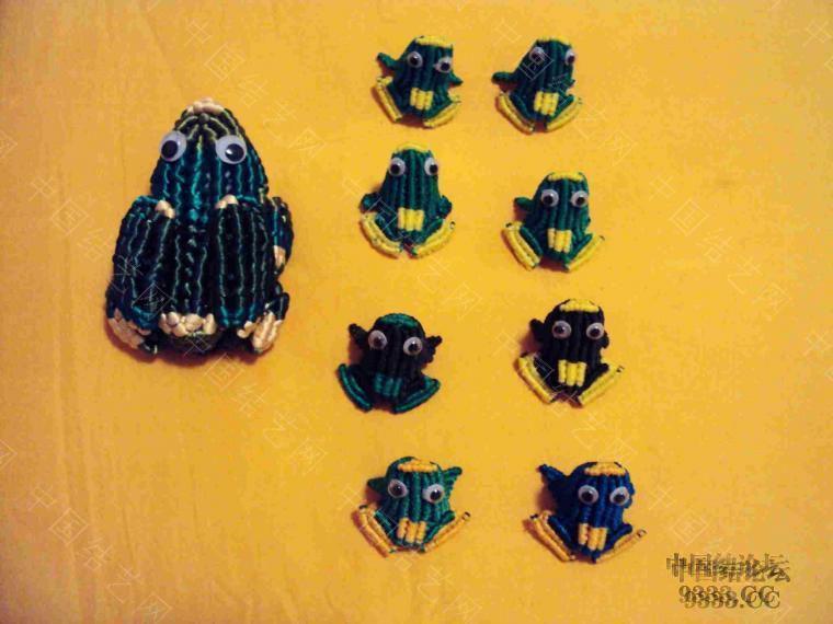 中国结论坛 青蛙妈妈和小青蛙 青蛙,妈妈,和小青,小青蛙 立体绳结教程与交流区 2a25ee53cd974a66cfd26877f1b0b94b3
