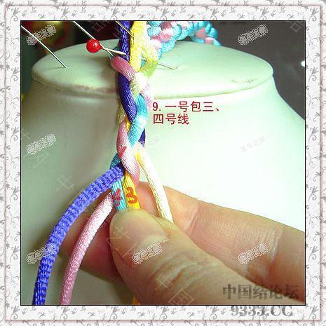 中国结论坛 夹芯四股的编法(第二页长双联结编法) 一根绳子编法大全简单,中国结编法图解大全,方胜结编法步骤图解 图文教程区 de4934c6068166f996b65dee279535cf10