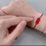 简单的红绳手链编法图解