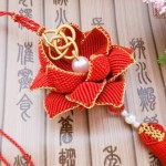 莲花挂件基础结,花瓣编织以及组合教程