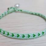 盘编12股心形手绳,绿色好心情~